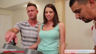 Preview 1 of Brunette Brooklyn Chase gets big tits jizzed