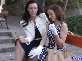 British glamcore milf fingers teen babe