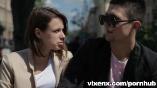 vixenx - Beautiful slim teen sucks and fucks for a bit before anal sex Cowgirl ass
