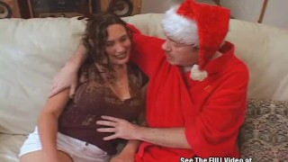 Dirty Santa Fucks His Reindeer Girl
