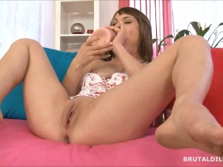 Porn In 1960 Busty Babe Expanding Her Tight Pussy With A Thick Brutal Dildo In