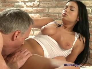 Massage Rooms Stunning young Czech masseuse enjoys big English cock