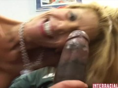 "Hot wife rio says ""fuck you"" to her hubby and takes a bbc up her ass!"