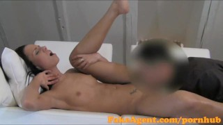 FakeAgent Super slim babe takes first time Creampie in Casting interview  office sex homemade babe oral-sex creampie point-of-view audition amateur cumshot pov casting couch real reality czech fakeagent small-tits interview