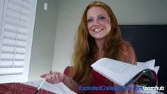 Shy Redhead Amateur Fucked and Facialed