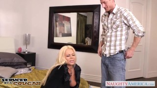Blonde cougar Nikita Von James fuck