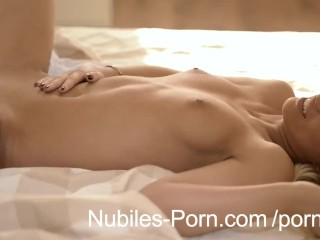 18 yr old blonde takes a cock ride