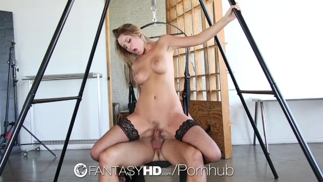 Sex on a swing Hd - fantasyhd alexis adams in black lingerie fucked on a sex swing