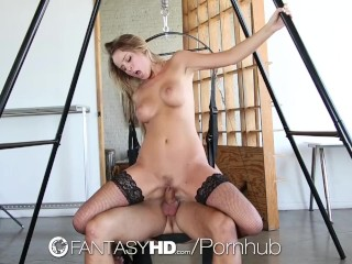 Forum Lebanese Amateur HD - FantasyHD Alexis Adams in black lingerie fucked on a sex swing