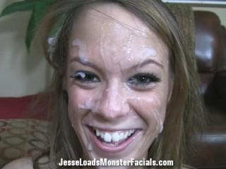 Haley Sweet bj and massive facial