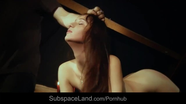 Sexy land slaves Restrained slave hot waxed and than rubbed with a spiny brush in bondage