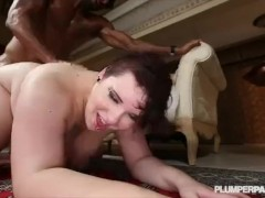 Busty Goth BBW Kitty McPherson Fucked By Pool in Miami