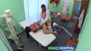 FakeHospital Busty sexy mature MILF helps the doctor relieve