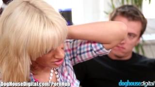 DogHouse MMF Bi-Sex Cuckold  big tits bi curious reverse cowgirl cuckold doghousedigital blowjob blonde massage bisexual bi mmf anal double blowjob bi sex