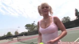 Big bree tennis takes black pigtailed a student manaconda on interracialpass cock