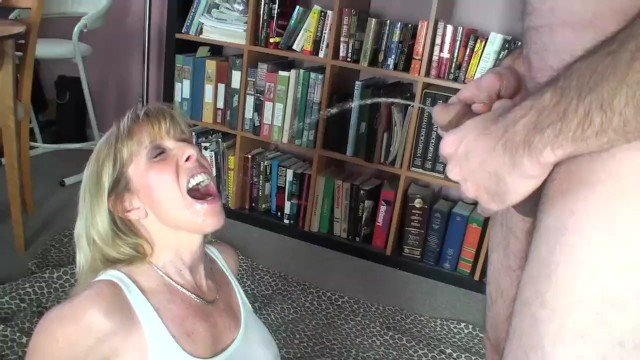 Carol cox taking a boys virginity - New guy pisses in my mouth and all over me and then cums in my mouth