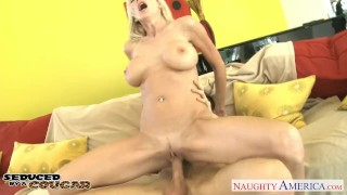 Busty cougar Emma Starr fucking Cock young