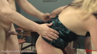 Nasty ass to mouth for anal BDSM sluts Facial slapping