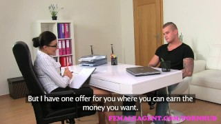 FemaleAgent. Promise of a big wage is the key to unlock this studs cock
