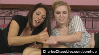 Hot Tampa MILF Charlee Chase Gets a Hand Stroking Cock!