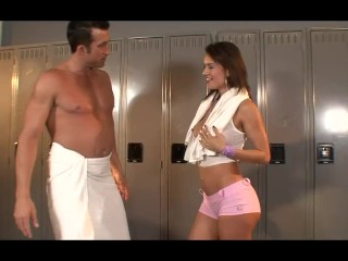 Franceska Jaimes Gets A Sweaty Workout And Showers Off The Sweat With Cum 1