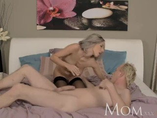 MOM Blonde milf needs to taste some after dinner meat