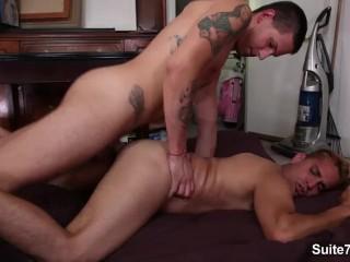 Sweet brunette gays Camden Christianson and Lex Sabre fucking hard and cumm