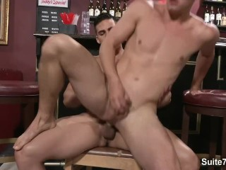 Seductive gays Joey Cooper and Topher DiMaggio sucking dicks and fucking
