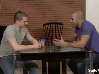 Sexual horny gays Anthony Romero and Austin Wilde fucking their asses