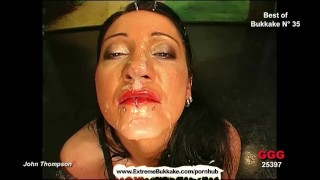 Down semen milfs face with playing busty dripping their loves blowjob cum