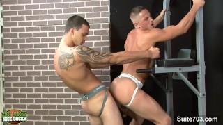 Naughty gays slurping their cocks