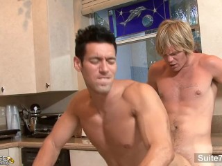 Sexy brunette married guy Alexander Garrett gives head and gets fucked well