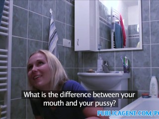 Pormhub Anal Virgin Publicagent Blonde Wants Sex On A Table
