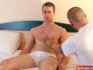 Guillaume a real str8 guy get sucked his huge cock despite of him by a guy