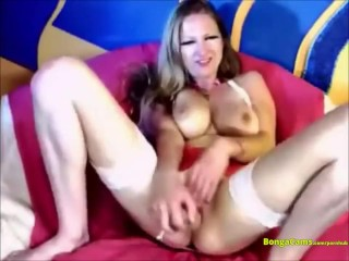 The Webcam Experience Presents Brunette And Her Toy On Webcam