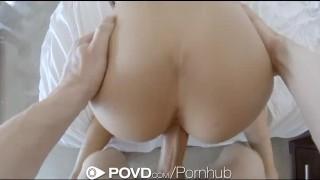 HD - POVD Tall babe August Ames fucks her boyfriend
