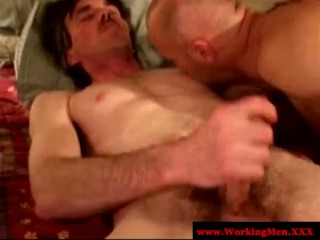 Dirty southern ex con giving blowjob to kinky trucker