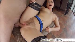 AssTraffic Czech Wendy Moon does ass to mouth and cum swallow