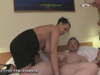 Porno Sexs Video Fucking, Nightkiss66- German milf threesome with a couple MILF Threesome German