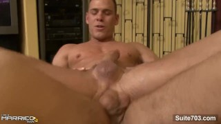 Handsome gay Drew Cutler gets cock sucked and fucked by married guy Jeremy