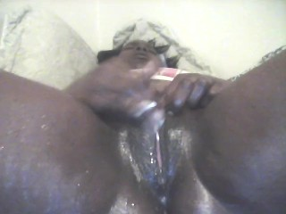 Japanese squirts on black cock