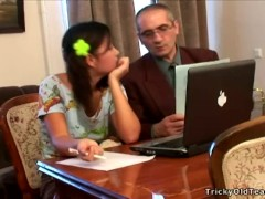 Tricky Old Teacher – Innocent young chick