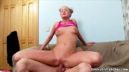 Tricky Old Teacher - Blonde sexy young