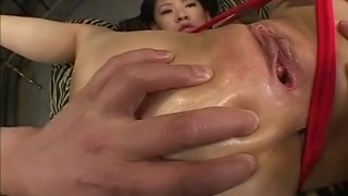 Milf with hot ass receives toys inside  vibrator milf alljapanesepass mother nice-ass lubricant gaping-hole dildo oiled-body mom toy-insertion sex-toys