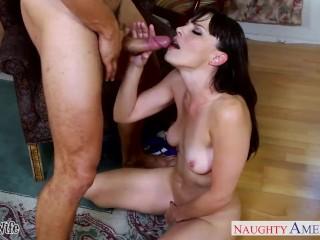 Brunette wife Dana DeArmond take cock