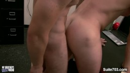 Amazing gays Brenden Cage and Trent Locke slurp their pricks and fucking