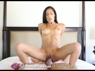 HD PornPros -Chloe Amour caught masturbating and fucks guys dick
