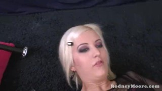 Rodney's cherry ass blonde licking butt cum torn rimming drinking dick stocking