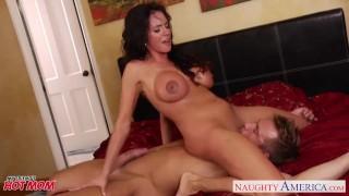 Naughty mom Ariella Fererra gets big knockers fucked well