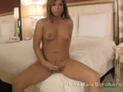 Lady Cock T-girl Hannah Shemale Strokers with Pierced Nipples